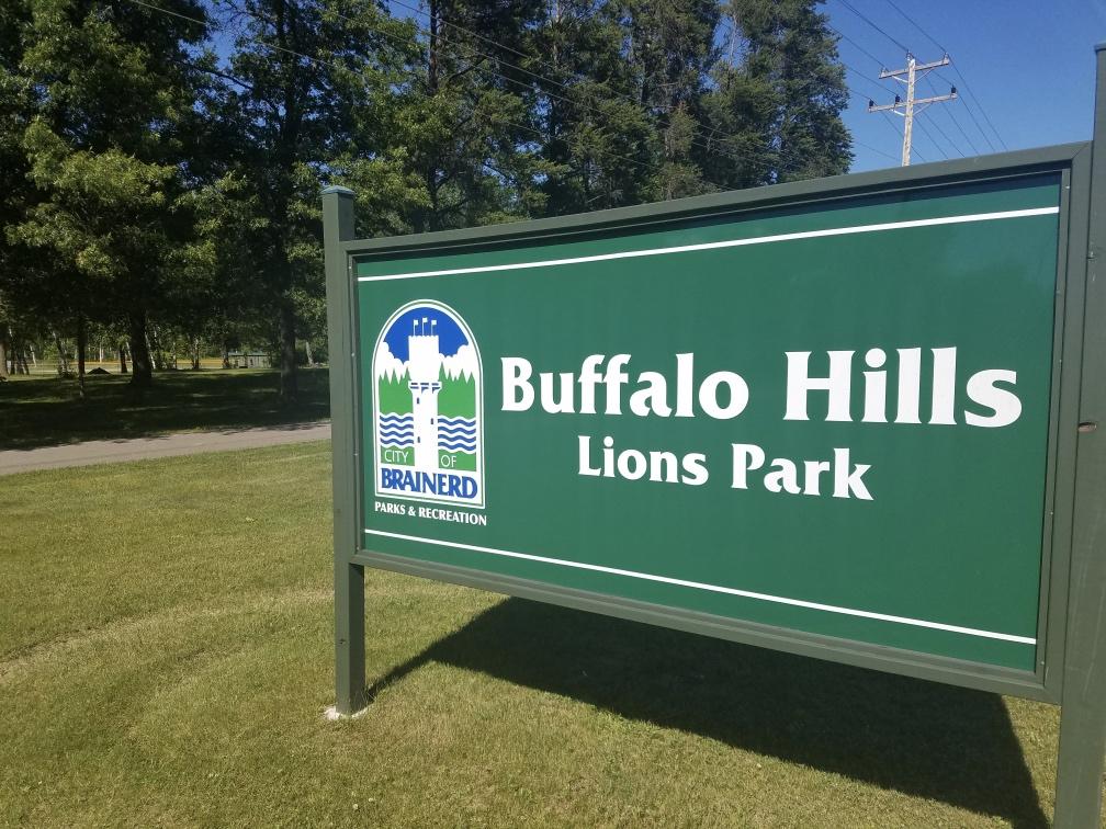 Buffalo Hills Lions Park Sign Brainerd Minnesota
