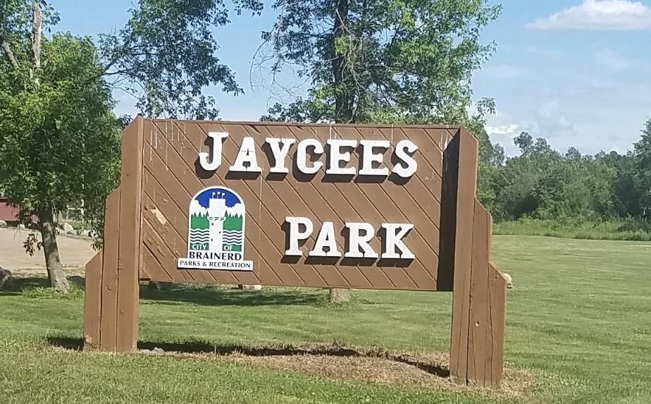 Jaycees Park Entrance Sign Brainerd Minnesota