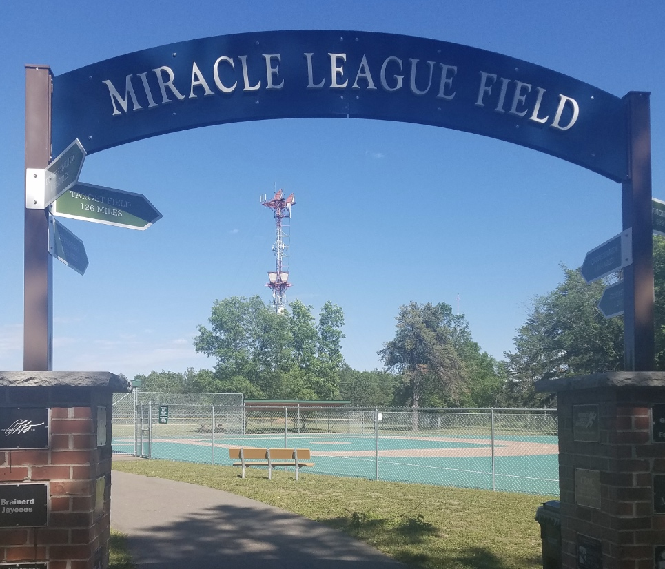 The entrance to Miracle League Field Bane Park Brainerd Minnesota