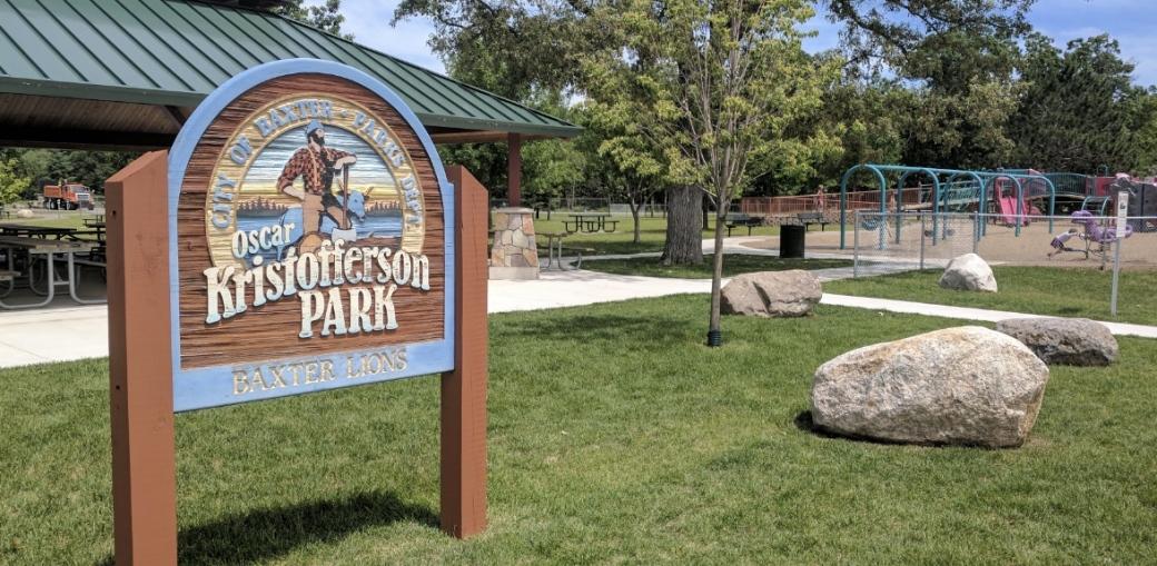 The Oscar Kristofferson Sign in Baxter Minnesota