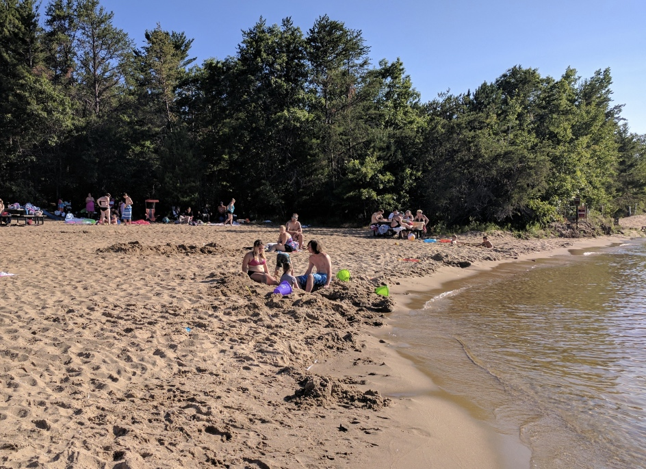 Plenty of sand space.